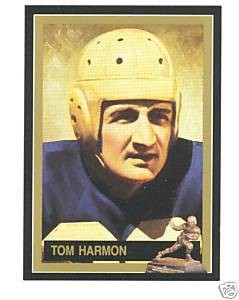 Tom Harmon Michigan Wolverines 1940 Heisman Trophy winner card