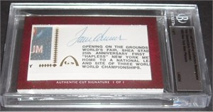 Tom Seaver & Jerry Koosman certified autograph 2012 Leaf Executive Masterpiece Dual Cut Signature card #1/1