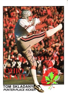 Tom Skladany autographed 1988 Ohio State Legends Kroger Police card