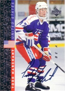 Todd Marchant certified autograph 1995 Be A Player card