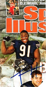 Tommie Harris autographed Chicago Bears cut Sports Illustrated for Kids magazine cover
