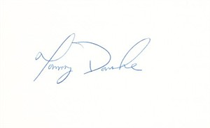Tommy Donohue autographed index card or cut signature