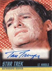 Tom Troupe Star Trek Original Series certified autograph card