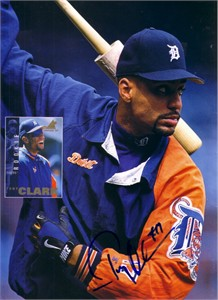 Tony Clark autographed Detroit Tigers Beckett Baseball cover photo