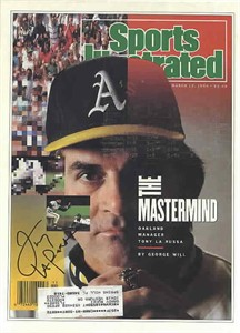 Tony La Russa autographed Oakland A's 1990 Sports Illustrated