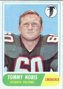 Tommy Nobis Falcons 1968 Topps card #151 NrMt