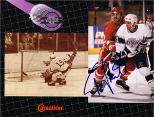 Tony Granato autographed Los Angeles Kings 1992 calendar photo