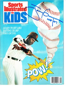 Tony Gwynn autographed San Diego Padres April 1989 Sports Illustrated for Kids magazine
