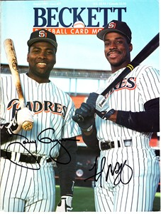 Tony Gwynn & Fred McGriff autographed San Diego Padres 1991 Beckett Baseball magazine cover