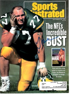 Tony Mandarich autographed 1992 Sports Illustrated cover