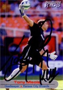 Tony Meola autographed MLS Kansas City Sports Illustrated for Kids card