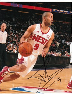 Tony Parker autographed 2009 NBA All-Star Game 8x10 photo