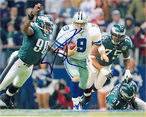 Tony Romo autographed Dallas Cowboys 8x10 scrambling photo