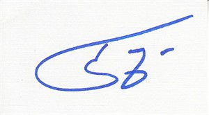 Tony Siragusa autographed blank back of business card