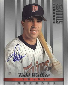Todd Walker autographed Minnesota Twins 1997 Studio 8x10 photo card