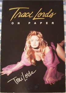 Traci Lords autographed On Paper sexy 11x16 inch poster book