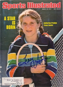 Tracy Austin autographed 1976 Sports Illustrated cover