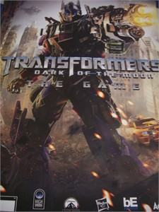 Transformers Dark of the Moon video game 24x28 promo poster