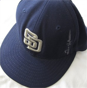 Trevor Hoffman autographed San Diego Padres authentic game model cap or hat