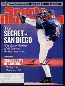 Trevor Hoffman autographed San Diego Padres 2002 Sports Illustrated
