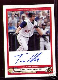 Travis Hafner certified autograph Cleveland Indians 2005 Upper Deck Origins card