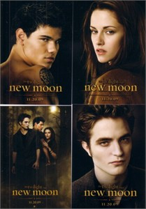 Twilight New Moon movie 2009 Comic-Con 4 card promo set (Bella Edward Jacob)