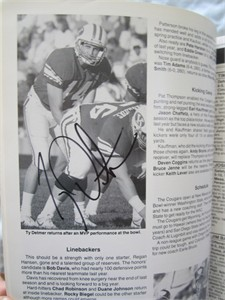 Ty Detmer autographed 1989 BYU Cougars Football Media Guide