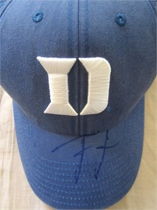 Tyus Jones autographed Duke Blue Devils cap or hat