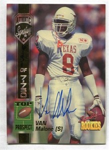 Van Malone Texas Longhorns certified autograph 1994 Signature Rookies card