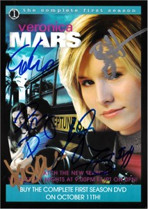 Veronica Mars cast autographed 2006 Comic-Con 5x8 photo card Kristen Bell Percy Daggs Jason Dohring