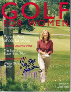 Vicki Goetze autographed 2002 Golf for Women magazine cover