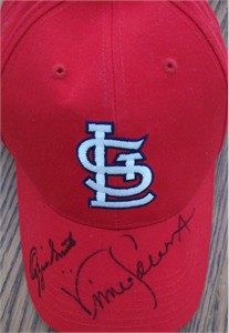 Vince Coleman & Ozzie Smith autographed St. Louis Cardinals cap or hat