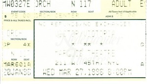 Victor/Victoria original 1996 Broadway musical ticket stub