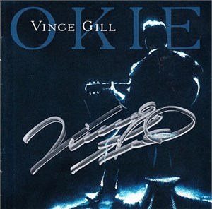 Vince Gill autographed OKIE CD booklet