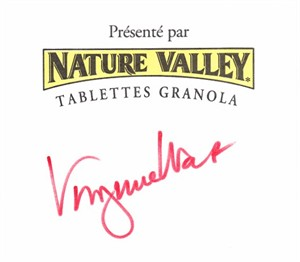 Virginia Wade autographed Nature Valley Granola card (cut signature)