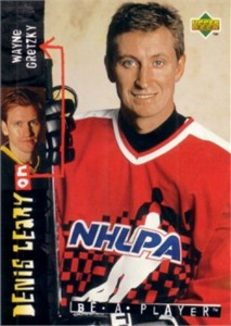Wayne Gretzky 1995 Upper Deck Be A Player card #R147