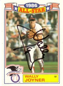 Wally Joyner autographed Angels 1987 Topps card