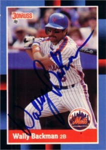 Wally Backman autographed New York Mets 1988 Donruss card
