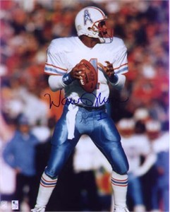 Warren Moon autographed Houston Oilers 8x10 photo
