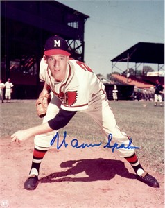 Warren Spahn autographed Milwaukee Braves 8x10 photo