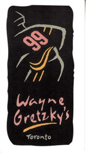 Wayne Gretzky's Toronto restaurant 1990s business card