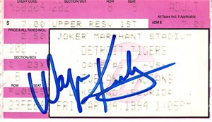Wayne Kirby autographed 1994 Cleveland Indians spring training ticket stub