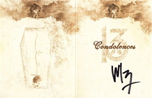 Wednesday 13 autographed Condolences album promotional card