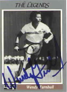 Wendy Turnbull autographed Netpro Legends tennis card