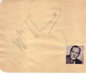 William Demarest & John Charles Thomas autographed autograph album or book page