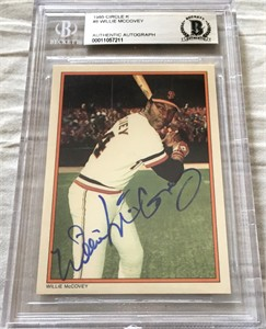 Willie McCovey autographed San Francisco Giants 1985 Topps Circle K All Time Home Run Kings card