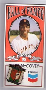 Willie McCovey San Francisco Giants Hall of Famer Chevron collector pin