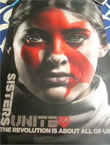 Willow Shields autographed Hunger Games Mockingjay Part 2 2015 Comic-Con full size 27x40 movie poster