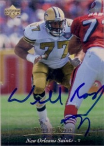 Willie Roaf autographed New Orleans Saints 1995 Upper Deck card