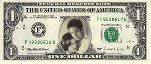 X-Files souvenir 1995 $1 dollar bill MINT (Gillian Anderson & David Duchovny)